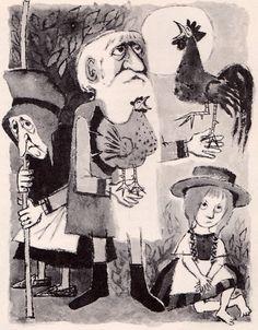 ¤ Le conte de Gockel, Hinkel & Gackeliah par Clemens Brentano, illustré par Maurice Sendak, traduit par Doris Orgel                                                                                                                                                                                 Plus