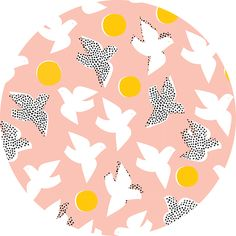 """Lorena Siminovich for Cloud9, ORGANIC, Glint, Flock Pink  Fabric is sold by the 1/2 Yard. For example, if you would like to purchase 1 Yard, you would enter 2 in the Qty. box at Checkout. Yardage is cut in one continuous piece.  Examples:  1/2 yard = 1 1 yard = 2 1 1/2 yards = 3 2 yards = 4   1/2 Yard Measures 18"""" x 44/45""""   Fiber Content: 100% Organic Cotton   Hover over image for a larger, better view."""