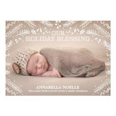 Holiday Blessing Foliage | Birth Announcement