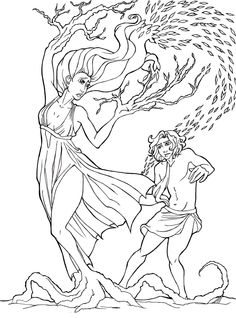 Apollo and Daphne by panchan14.deviantart.com on @DeviantArt