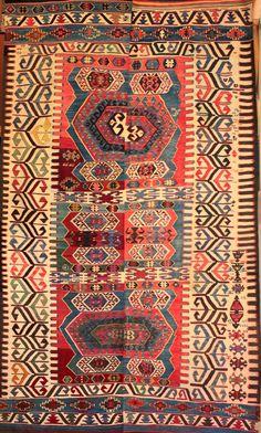 Antique Anatolian  Konya region Hotamis dowry kilim.