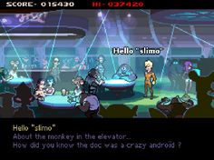 """Starr Mazer System: PC Year: TBA Developer: Imagos Softworks Website: starrmazer.com Video: Trailer Description: """"Starr Mazer blends two classic genres, the Point-and-Click Adventure and Classic-style Shoot 'Em Up, into a retro-sexy sci-fi epic with modern design sensibilities, open-middled gameplay and RPG elements."""""""