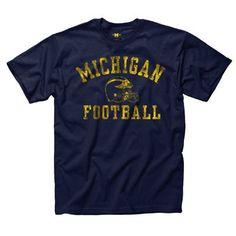 New Agenda University of Michigan Youth Football Navy Tee