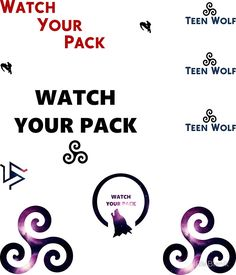 Teen Wolf - sticker set B