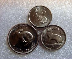 Coin Connoisseur - Rabbit coin trio - three bunny coins from Canada, Zimbabwe and Ireland - Rabbit jewelry - rabbit lover sur Etsy, $5.28 CAD