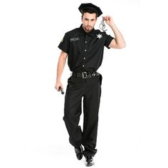 >> Click to Buy << Male Police Costumes Black Halloween Costume for men Deguisement Halloween Policeman Fancy Cosplay Clothing #Affiliate