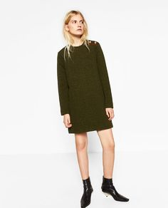 Image 1 of MILITARY-STYLE DRESS from Zara