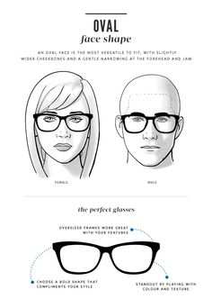 Guide to glasses for oval face shapes