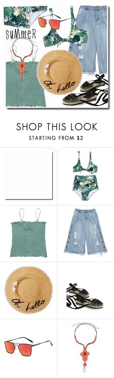 """print bikini set"" by duma-duma ❤ liked on Polyvore featuring Kate Spade, zaful, zafultw and Zaful3rdAnniv"