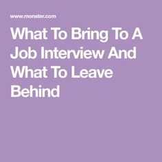 how to bring a resume to an interview