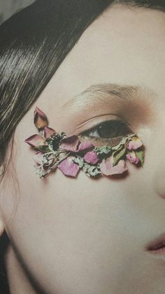 Pressed Flowers -- Well, I guess this is one way to cover those dark, puffy circles under the eye. :)