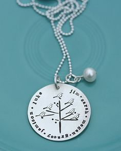 family nest personalized pendant