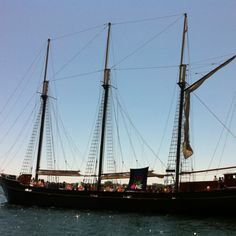 The Kajama down at Harbour Front Centre. I dream of hijacking this ship and sailing off to begin my Pirate career ! Toronto Zoo, Tall Ships, Water Crafts, Sailing Ships, My Dream, Boats, Centre, Career, Sisters