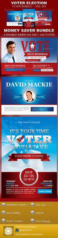 Leading The Way Political Flyer Template | Political Campaign