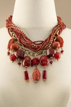 Brocante Necklace - Stone, Resin And Glass Bead Necklace