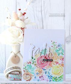 SSS Sketch Ranunculus; watercolor; beautiful; floral background die; subtle die