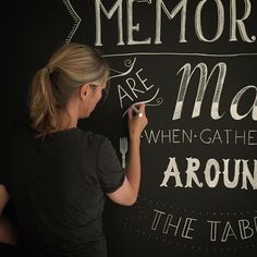 www.drawink.nl #mural #quote #chalkmarkers #chalkpaintwall #handlettering Chalk Markers, Chalk Paint, Hand Lettering, Illustration, Wall, Quotes, Quotations, Handwriting, Walls