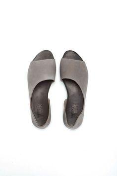 Grey Open toe women shoes by WalkByAnatDahari on Etsy, $180.00