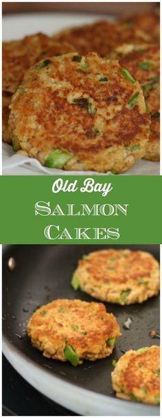 A classic and easy recipe for salmon cakes that comes together in minutes. Serve these salmon cakes with lemon and a green salad for a light and refreshing dinner. (Salmon Recipes In Foil) Salmon Dishes, Fish Dishes, Seafood Dishes, Seafood Recipes, Dinner Recipes, Cooking Recipes, Healthy Recipes, Seafood Salad, Recipes For Lent