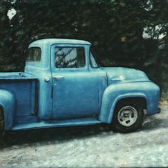 blue truck painting .. love this old truck!!