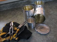 Save Your Tin Cans - I've been saving tin cans with the idea of finding a use for them one day. I have saved many sizes - my daughter thinks that when someone s