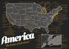 Map Of Where American Television Shows Were Filmed