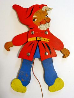 Vintage Ravi Kunst 1960s wooden gnome troll pull toy Made in West Germany in Toys & Hobbies, Vintage & Antique Toys, Pull Toys | eBay