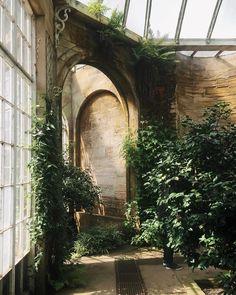 Home Interior Design — Greenhouse interiors - Gewächshaus Dark Green Aesthetic, Nature Aesthetic, Greenhouse Interiors, Slytherin Aesthetic, Abandoned Buildings, Architecture, Interior And Exterior, Interior Design, Beautiful Places