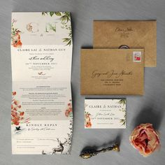 Etsy Once Upon a Time Concertina Wedding Invitation and Save the Date calendar. Magical Wedding, Fall Wedding, Rustic Wedding, Wedding Menu, Wedding Invitation Samples, Wedding Stationery, Autumn Wedding Invitations, Invitation Ideas, Custom Invitations