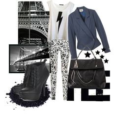 A fashion look from October 2010 featuring white singlet, button-fly jeans and black high heel boots. Browse and shop related looks.