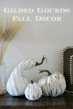 Gilded Gourds Fall Decor - Addicted 2 DIY
