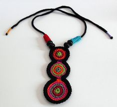 ETHNIC (01) - Handknit Crochet Necklace | For more informati… | Flickr