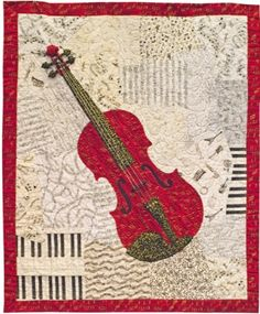Red Violin quilt by Loretta Alvarado. Bravo!