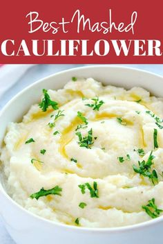 Easy Mashed Cauliflower Recipe - the best way to make creamy and delicious low-carb option instead of mashed potatoes. Easy Mashed Cauliflower Recipe - the best way to make creamy and delicious low-carb option instead of mashed potatoes. Low Carb Recipes, Diet Recipes, Cooking Recipes, Healthy Recipes, Skillet Recipes, Cooking Gadgets, Crockpot Recipes, Recipies, Keto Foods