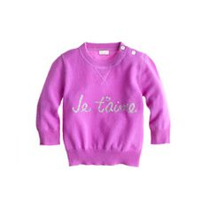 Collection cashmere je t'aime baby sweater
