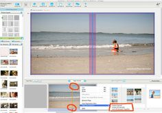 """Do you love the look of full spread bleeds but not sure how to achieve the layout with the free program? It's not rocket science, but it can be done. Create two full bleed page layouts next to each other. Insert the same photo on each side. Scale exactly the same percentage and then line each photo with the center along the spine."""