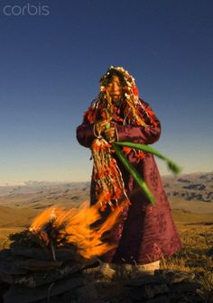 David Edwards: Shaman on 10,000 foot mountain top ceremony, Mongolia.