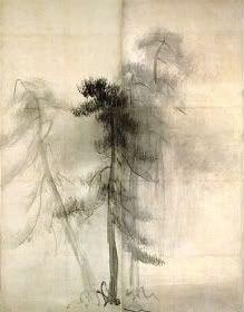 TOHAKU, Hasegawa Pine Trees (left panel) 16th century