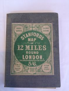 From the collection of Hilaire Belloc(1870-1953). This beautiful Stanfords map of 12 Miles round London was printed in the original Stanfords Charing cross premises in 1863