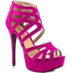 Amazon.com: JustFab Lilias - Fuchsia: JustFab: Shoes