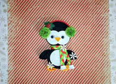 Christmas ornament Quilling art Christmas tree toy Penguin 3D