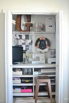 Inspirando pequenos armários de costura
