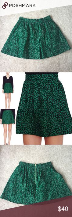 Hutch Emerald Leopard Print Skirt The jewel tone leopard print is gorgeous & sturdy fabric gives the skirt a great shape. It has a banded waist, pleated body, side pockets & a golden back zipper. Size 8  •lowball offers are automatically declined •no trades •ask all questions before buying •unfair ratings from buyers are reported & buyer will be blocked - I don't misrepresent my products; what you see is exactly what you get & my prices are way more than fair. Please be kind as I always…