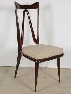 1stdibs.com | Set of Six Italian Chairs in the style of Osvaldo Borsani