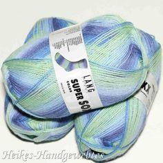 Super Soxx Color 4-fach Jeans-Mint Lang Yarns Jeans, Mint, Coin Purse, Purses, Wallet, Design, Fashion, Colors, Dark Blue