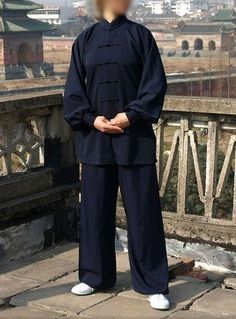 Asia-Sale Best Tai Chi, Kung Fu Clothing & Equipment Shop - Navy Blue Wudang Tai Chi Durable Material Uniform with Cuffs for Men and Women