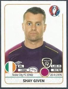 Image result for shay given panini euro2016 Stoke City Fc, Baseball Cards, History, Sports, Image, Hs Sports, Historia, Sport, History Activities