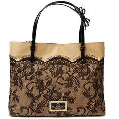 Valentino Sac ($1,065) ❤ liked on Polyvore featuring bags, handbags, tote bags, purses, bolsas, borse, women, brown handbags, man bag and brown tote