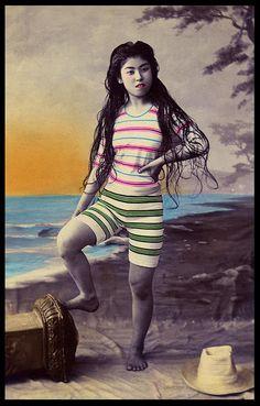JAPANESE SWIMSUIT GIRLS - Meiji Era Bathing Beauties of Old Japan (27) by Okinawa Soba, via Flickr