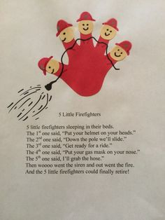 Five little firefighters poem